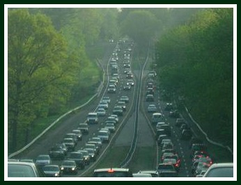 Clear-cutting dangerous trees on the Merritt Parkway solves one problem. But traffic jams -- due to tree work, accidents or just plain rush hour -- brings other environmental problems.