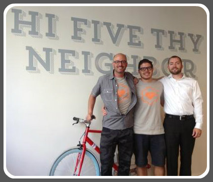 3 of the B:Hive's 6 founders (from left): Luke Scott, Jordan Rabidou and Ben Henson.
