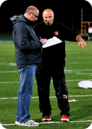 Dave Ruden, at work on the FCIAC sidelines.