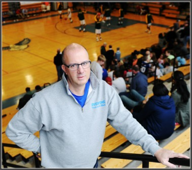 Dave Ruden, in one of the many high school gyms he knows well.