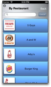 Choose from 20 fast-food chains...