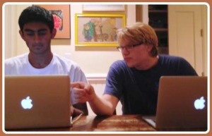 Mrinal Kumar (left) and Michael Menz, hard at work.