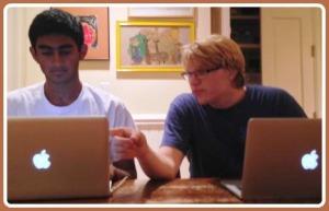 Mrinal Kumar (left) and Michael Menz, hard at work.