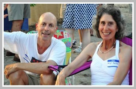 Andy and Meryl Kaplan take a relaxing break.