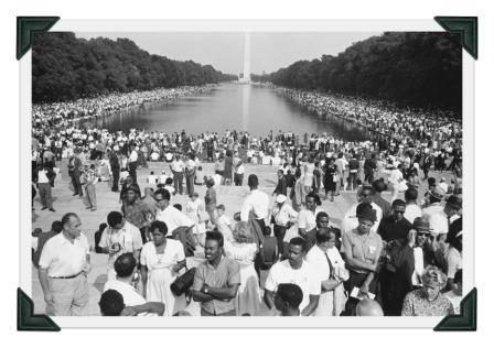 The scene in Washington, 50 years ago this Wednesday.