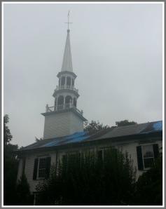 Saugatuck  Church steeple 8-29