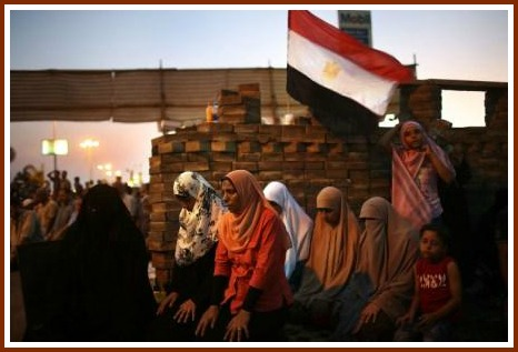 One view of the upheaval in Egypt. (Photo by Spencer Platt/Getty Images)