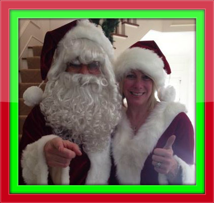 Drew and Kelley Schutte -- aka Santa and Mrs. Claus.