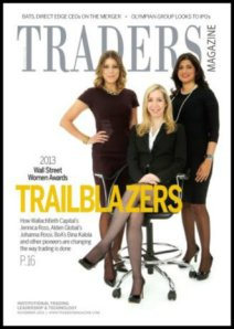 Johanna Rossi (seated), on the Traders cover.