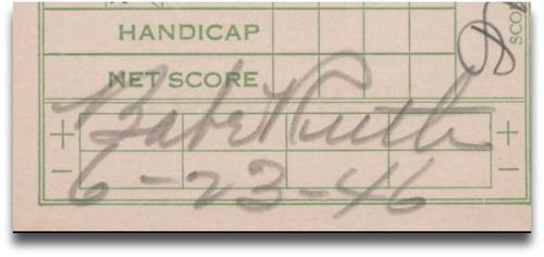 Babe Ruth scorecard