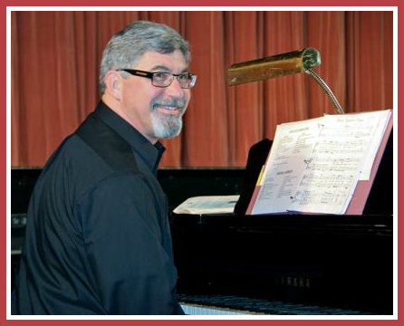 Don Rickenbach composed a new -- and very clever -- production number for the choir. (Photo/Lynn U. Miller)