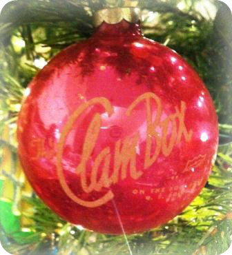 Clam Box Christmas ornament