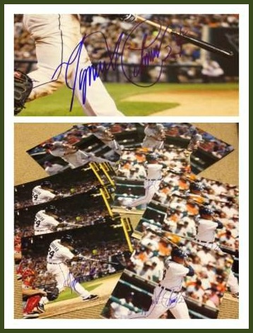 Miguel Cabrera autographed photos. Nick got them from Cabrera's driver in New York.