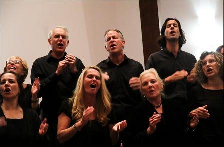 Good News Gospel Choir tenors.