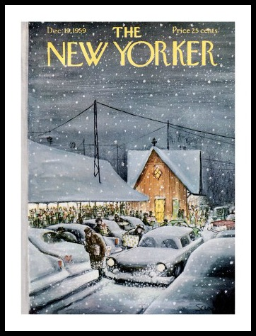 This Charles Saxon cover from December 19, 1959 seems inspired by the Westport train station.