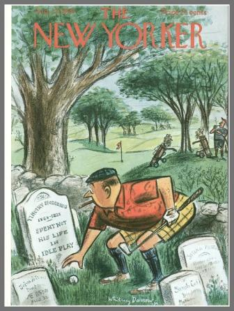 Whitney Darrow Jr.'s 1959 cover was probably inspired by the small colonial cemetery at Longshore.