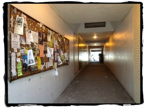 The Parker Harding pedestrian tunnel. Not lookin' real good.