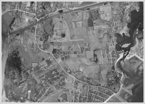 Westport south of Post Road - 1934 UConn aerial survey