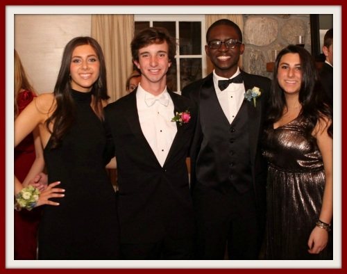 Khaliq Sanda at a formal dance, with great friends Roscoe Brown, Emily Korn and Elizabeth Camche.