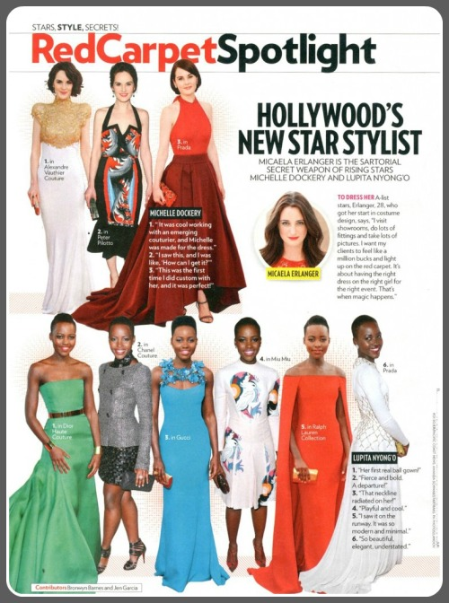 "People magazine called Micaela Erlanger the ""sartorial secret weapon of rising stars Michelle Dockery and Lupita Nyong'o."""