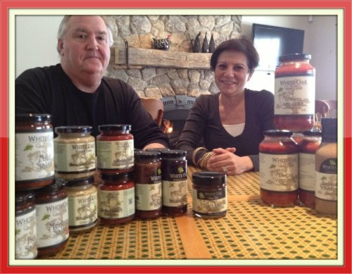 John and Renee Hooper, in a cozy Christie's corner with a few of their White Oak products