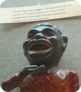 "The ""Jolly Nigger Bank,"" as described in the Westport Library exhibit."