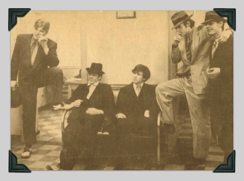 """The Town Crier photo of (from left) Thomas Skinner, Stephen Ambrose, Michael Simonds, Frank Rawlinson and Anthony Dohanos. Anthony posted the photo on Facebook. He now lives in Hawaiii -- far from the scene of the """"crime."""""""