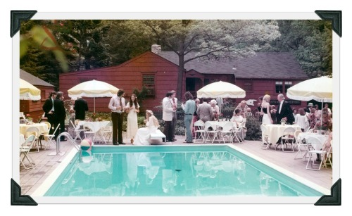 The Burroughs' house in 1974 -- the day Miggs was married in the back yard.