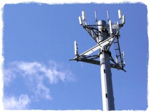 An AT&T cell tower.
