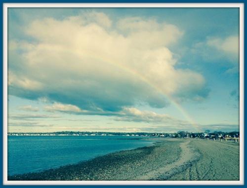 Compo beach rainbow - Laurey Tussing