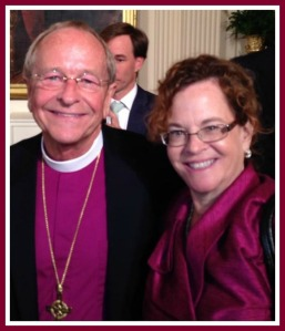 Rev. Debra Haffner with Gene Robinson, retired bishop of the Episcopal Diocese of New Hampshire.