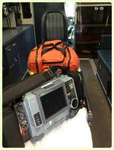 Monitors and other equipment fill the back of each ambulance.