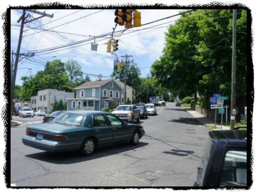 The Post Road/Riverside Avenue/Wilton Road intersection is one of the worst in Fairfield County. But at least there's greenery on the way to Norwalk.