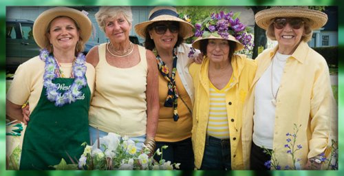 Westport Garden Club members enjoy the annual plant sale.