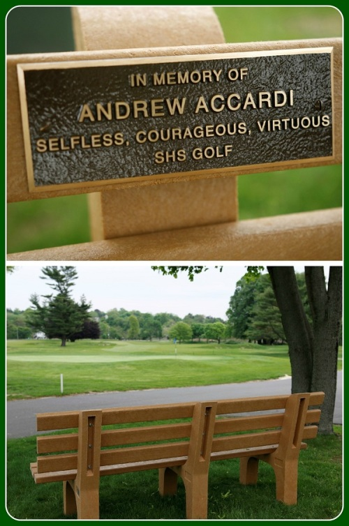 Andrew Accardi's plaque and bench.