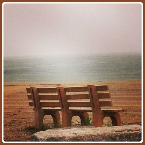 """Benches are nice. But an """"06880"""" reader would like somoe Adirondack chairs at Compo too. (Photo/Betsy P. Kahn)"""