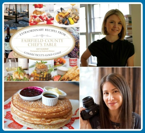 Clockwise from upper left: the book; Amy Kundrat; Stephanie Webster; Sugar & Olives' pancakes.