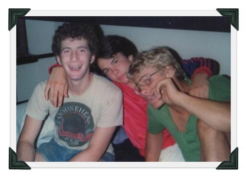 Dan Chenok, Greg White and Todd Weeks, the summer before senior year.