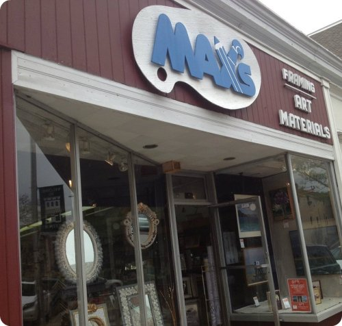 Max's Art Supplies -- a long and familiar Post Road store.