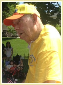 In his last public appearance -- this year's Memorial Day parade -- Bill Meyer promoted the Sunrise Rotary's Great Duck Race.