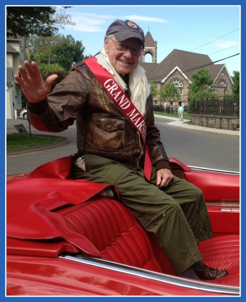 Grand marshal Bob Satter has a smile and a story for everyone.