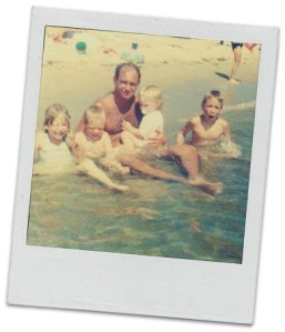 Brian O'Shea with his 4 kids, when they were young.