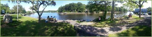 The small Riverside Avenue park, across from Saugatuck Elementary School.