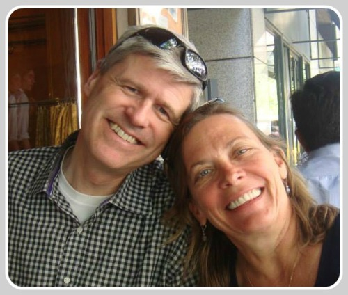 Iain Bruce and his wife Linda.
