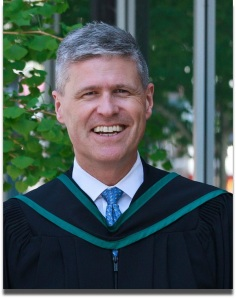 Iain Bruce, in his convocation garb.