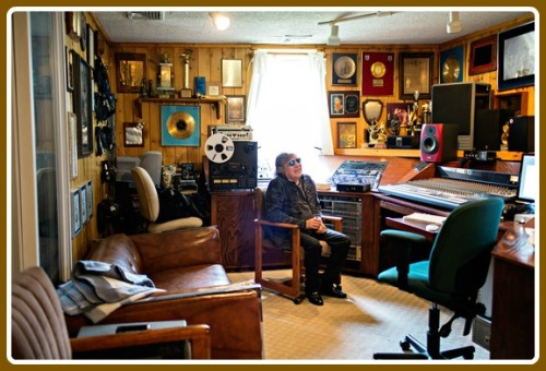 Jose Feliciano in his home recording studio. He has a new album out this summer. (Photo/Dorothy Hong for Wall Street Journal)