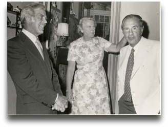 Years ago, Ruth Bedford hosted this Westport Y event. She is shown with Lester Giegerich (left) and Dr. Malcolm Beinfield. (Photo courtesy of Westport Y)