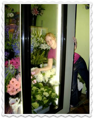 In 2009, Carolyn Ross worked at Taylor's Floral Arts. She even arranged flowers for her own baccalaureate and graduation ceremonies.