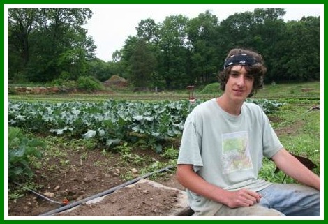 This year's interns were too busy working to take photos. So the images here are from years past. In 2009, Matt Takiff (above) worked at Sport Hill Farms.