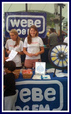 Many internships -- like this from last year at WEBE -- involve something new for teenagers: interacting with the public.